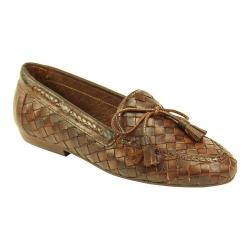Women's Sesto Meucci Neda Loafer Dark Tan Stained Calf