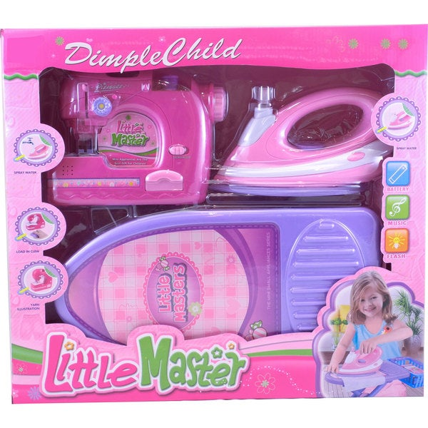 DimpleChild Little Master Ironing and Sewing Toy Set
