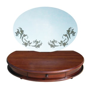 D-Art Maya Mahogany Wood Vanity and Mirror (Indonesia)