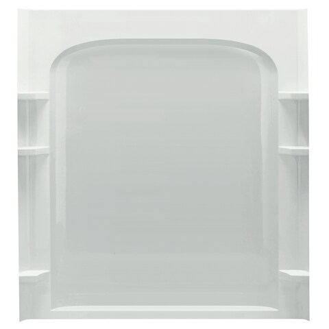 Ensemble Tile 37-1/2 in. x 60 in. x 54-1/4 in. Three Piece Direct-to-Stud Tub and Shower Wall Set in White