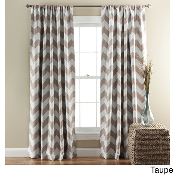 lush decor chevron blackout curtains panel pair 52 x 84 free shipping today