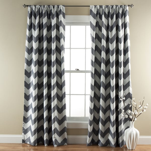 lush decor chevron blackout curtains panel pair