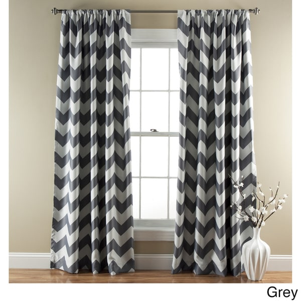 Lush Decor Chevron Blackout Curtains Panel Pair - 52 x 84 - Free Shipping  Today - Overstock.com - 16685154 - Lush Decor Chevron Blackout Curtains Panel Pair - 52 X 84 - Free