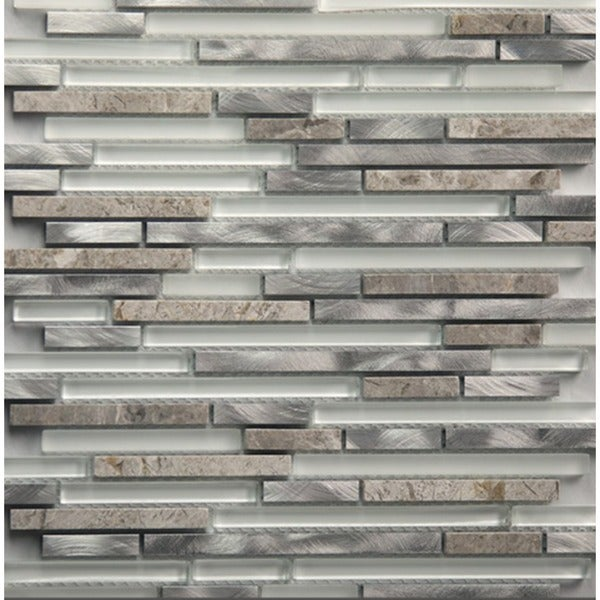 Martini Mosaic Riga Dazzle Stone 12 X 12 Inch Backsplash Tile (Set Of 8