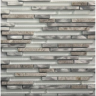 Martini Mosaic Riga Dazzle Stone 12 x 12-inch Backsplash Tile (Set of 8 Sheets)