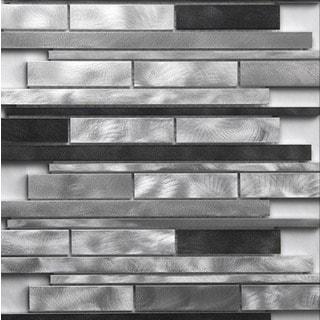 Martini Mosaic Strada Platinum Brush 12 x 12-inch Tile (Set of 7 Sheets)