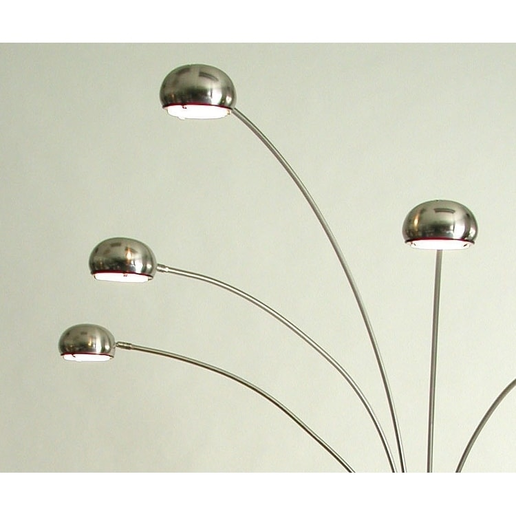 NOVA of California Mushroom 5-light Halogen Arc, Brown Sh...