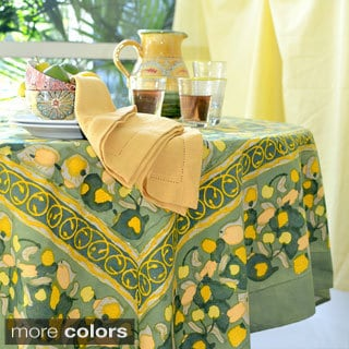 Couleur Nature Fruit 90 Inch Round Tablecloth