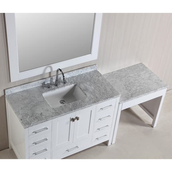 Shop Design Element London 78 Inch Single Sink White Vanity Set
