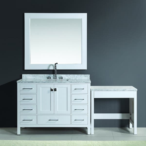 Design Element London 78 Inch Single Sink White Vanity