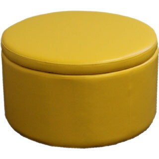 Yellow Storage Ottoman with 4 Additional Seats