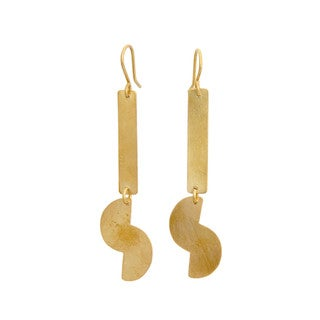 Belle Brass Geometric Dangle Earrings (Kenya)
