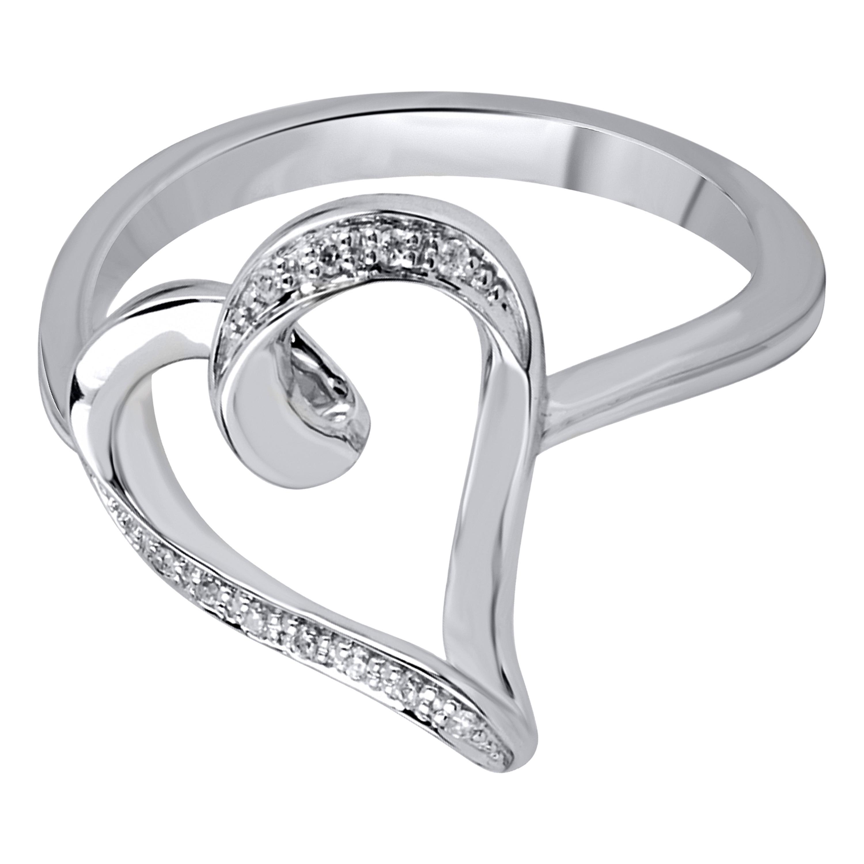 Bridal Symphony 10k White Gold Diamond Accent Heart Shape...
