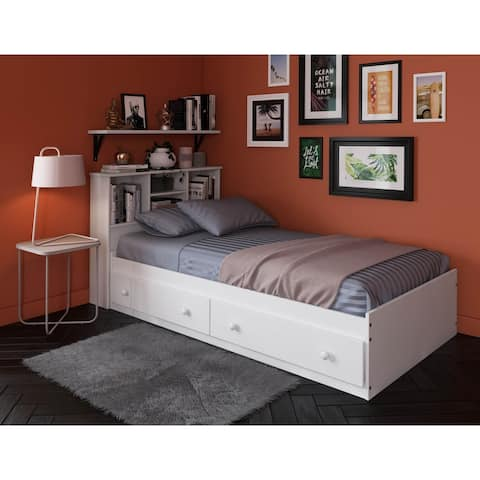 Kansas Solid Wood Twin Mate's Storage Bed by Palace Imports