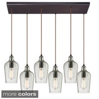 Elk lighting menlow park oil rubbed bronze 6 light pendant free elk lighting 6 light oil rubbed bronze hammered glass chandelier mozeypictures Gallery