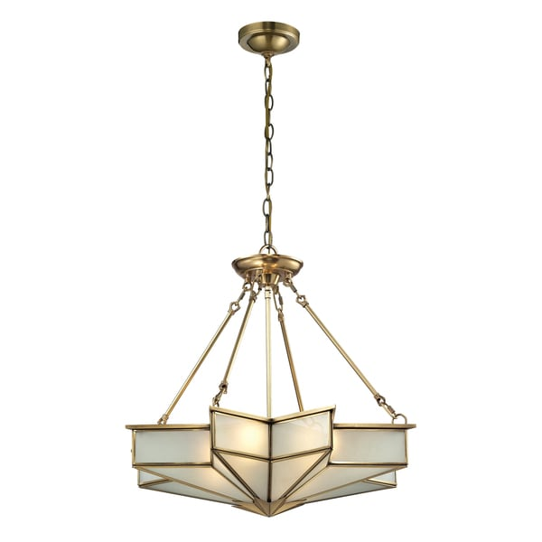 Shop Elk Lighting Decostar 4-light Brass Pendant