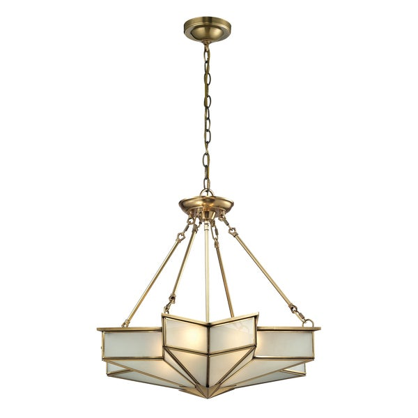 Elk Lighting Fans: Elk Lighting Decostar 4-light Brass Pendant