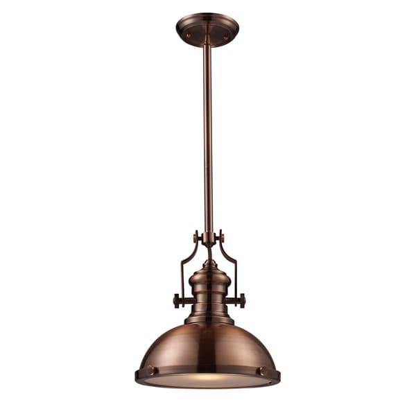 Elk Lighting Chadwick 1 Light Antique Copper Pendant