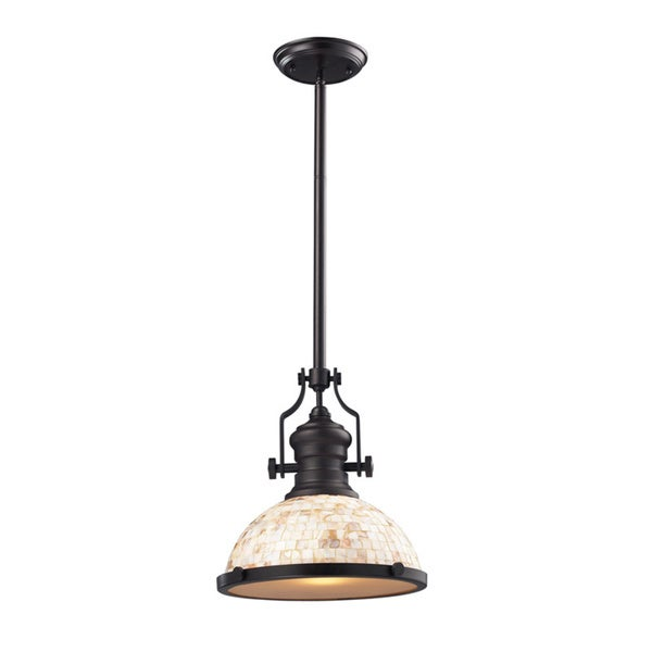 Elk Lighting Chadwick 1 Light Oiled Bronze Pendant