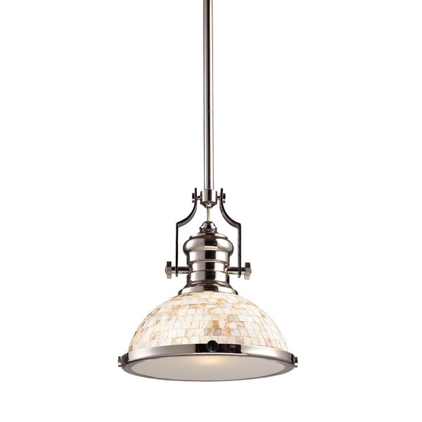 Elk Lighting Chadwick 1-Light Polished Nickel Pendant