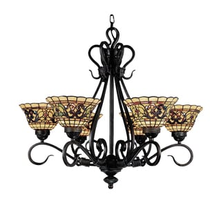 Elk Lighting Buckingham Vintage Antique Bronze 6-light Tiffany-style Chandelier