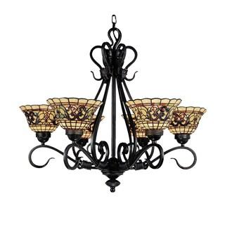 Elk Lighting Buckingham Vintage Antique Bronze 6-light Tiffany-style Chandelier