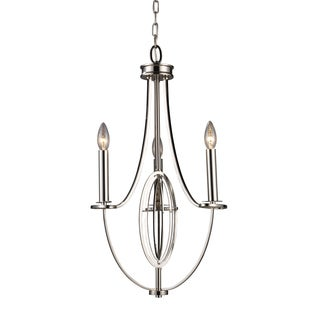 Elk Lighting Dione 3-light Polished Nickel Chandelier