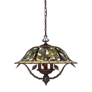 Elk Lighting Latham 3-light Tiffany Bronze Chandelier