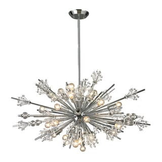 Elk Lighting Starburst 24-light Polished Chrome Chandelier