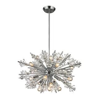 Elk Lighting Starburst 19-light Polished Chrome Chandelier