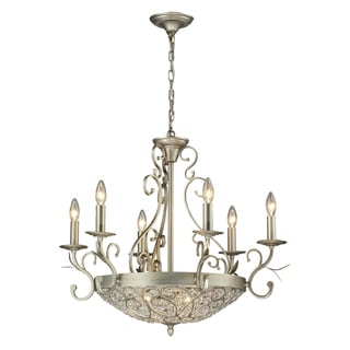 Elk Lighting Andalusia Collection 6+3-light Aged Silver Chandelier