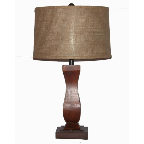 Crown Lighting 1-light Dark Oak Finished Wood Table Lamp