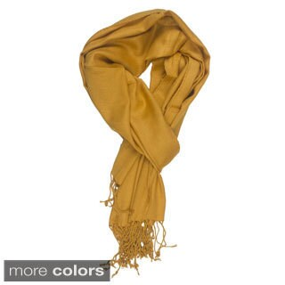 Handmade In-Sattva Colors Soft and Elegant Solid Color Scarf Stole (India)