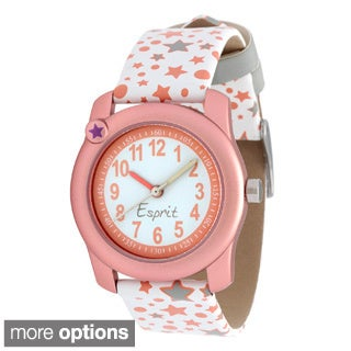 Esprit Girl's Analog Quartz Watch with Colored Pencil Set