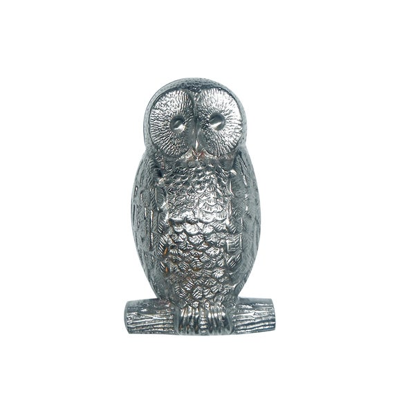 Highpoint Collection Satin Nickel 5 Inch Owl Door Knocker