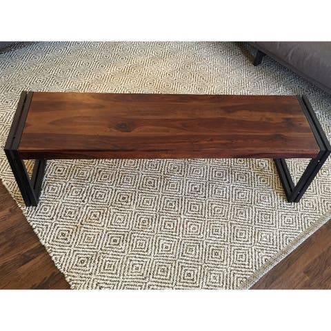 Handmade Timbergirl Reclaimed Sheesham Wood Bench (India)