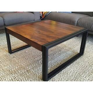 Handmade Timbergirl Solid Seesham Wood Coffee Table  India   Option  Square. Square  Coffee Tables For Less   Overstock com
