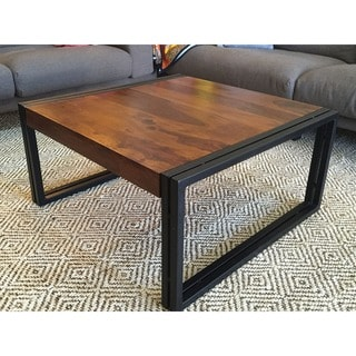 Handmade Solid Seesham Wood Coffee Table (India)