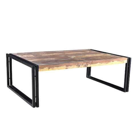 Handmade Timbergirl Old Reclaimed Wood Coffee Table (India)