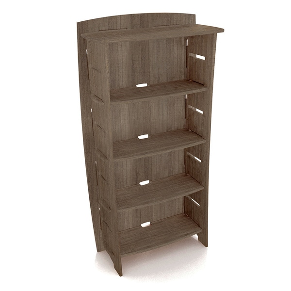 Lovely Legare Furniture 59 X 31 Inch Adjustable 4 Shelf Grey Driftwood Bookcase Nice Design