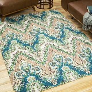 Waverly Treasures Palace Sari Prussian Area Rug by Nourison (8' x 10')