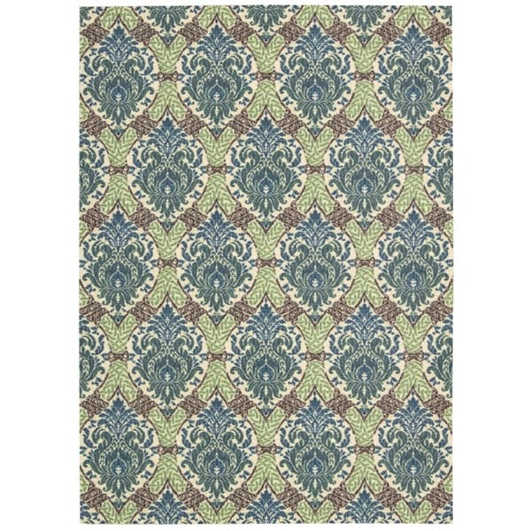 Waverly Treasures Dress Up Damask Blue Jay Area Rug by Nourison (8' x 10')