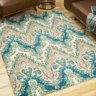 Waverly Treasures Palace Sari Prussian Area Rug by Nourison (5' x 7')