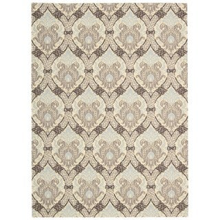 Waverly Treasures Dress Up Damask Birch Area Rug by Nourison (5' x 7')