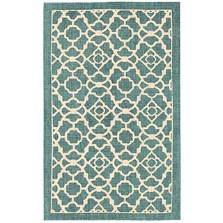 Waverly Color Motion Lovely Lattice Teal Area Rug by Nourison (2'3 x 3'9)