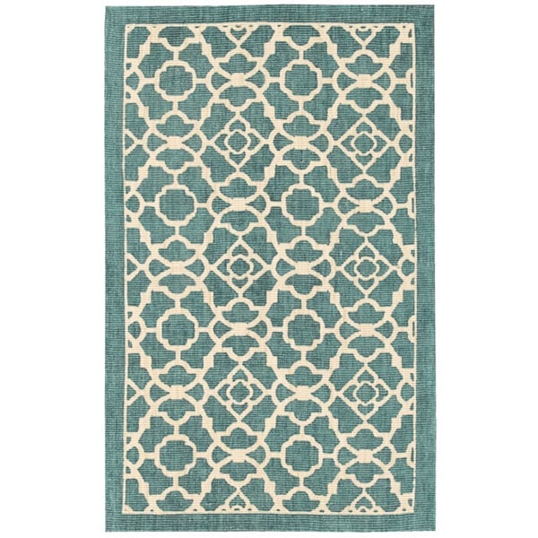 Waverly Color Motion Lovely Lattice Teal Area Rug by Nourison (2'3 x 3'9) - 2'3 x 3'9