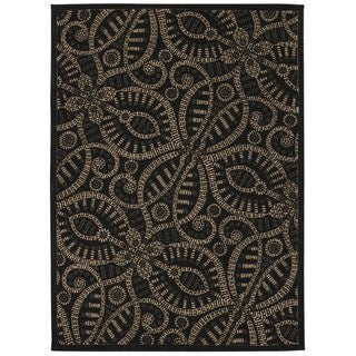 Waverly Color Motion Belle Of The Ball Licorice Area Rug by Nourison (5' x 7')