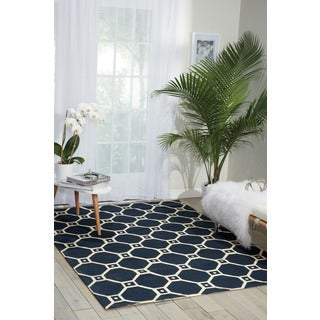 Waverly Color Motion Ferris Wheel Navy Area Rug by Nourison (5' x 7')