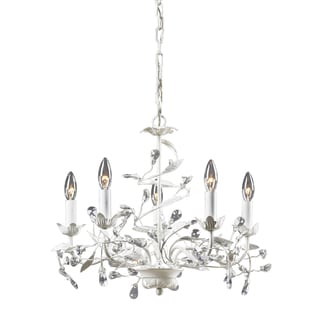 Elk Lighting Circeo Antique White 5-light Chandelier