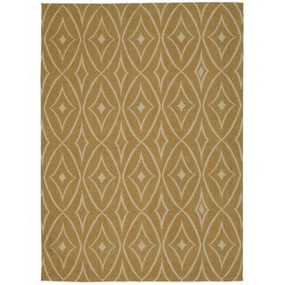Waverly Color Motion Centro Gold Area Rug by Nourison (5' x 7')